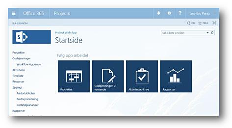 Project Online er en fleksibel nettbasert løsning for prosjektporteføljestyring