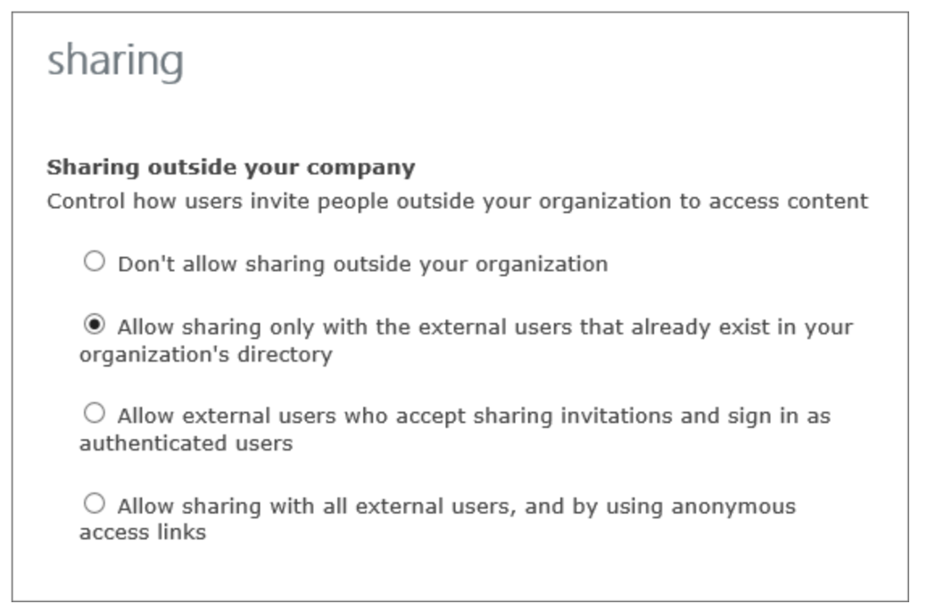 External users in Project Online