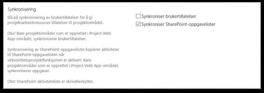 Project Online brukersynkronisering